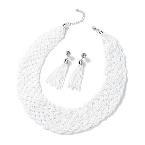 (NWT) Iron Tassel Earrings and Braided Statement